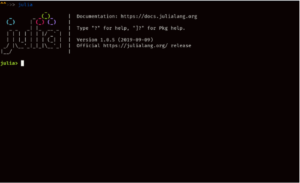 getting started with julia language